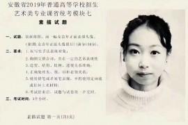 2019年安徽美术联考/统考考试题目(完整版)