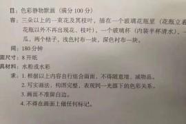 2019年山西美术联考/统考考试题目(完整版)