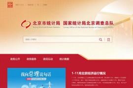 北京市统计局网站:tjj.beijing.gov.cn