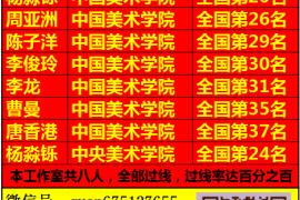 杭州书法高考培训班2015-2016届学生书法高考成绩