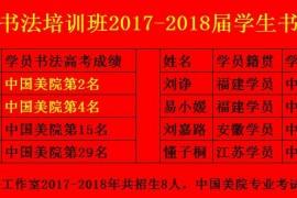 杭州望崖阁书法高考培训班2017-2018届学生书法国画专业高考成绩