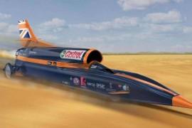 """世界上速度最快的汽车 超音速汽车""""寻血猎犬"""" 时速1610公里每小时"""