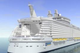 世界最大邮轮 海洋绿洲号吨位是泰坦尼克号5倍